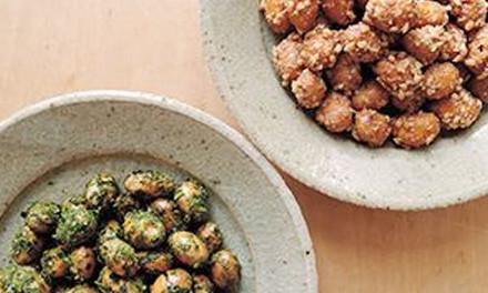 メープル醤油のカリカリ煎り豆
