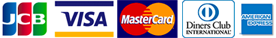 JCB・VISA・MasterCard・Diners Club INTERNATIONAL・AmericanExpress