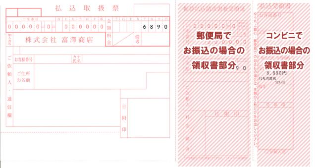 払込票の領収書部分