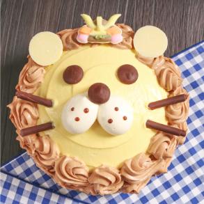 かぶとのライオンケーキ画像