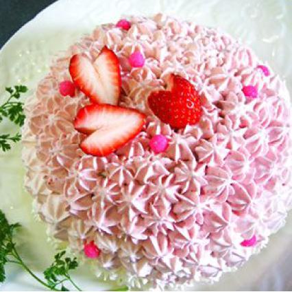 フラワーピンクケーキ