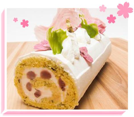 桜ロールケーキイメージ