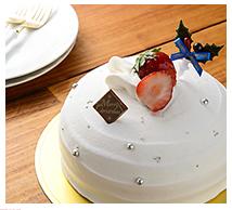 ドーム型のショートケーキ画像