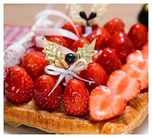 いちごのクリスマスパイ画像