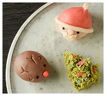 【日本】クリスマス和菓子画像