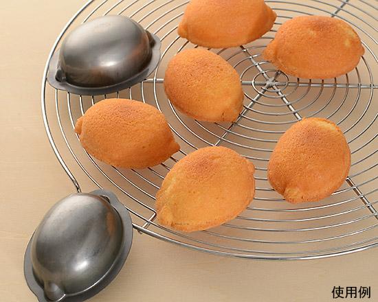 レモン型で焼いた素焼きのケーキ