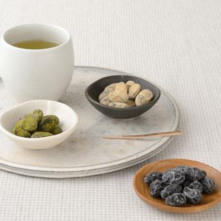 緑茶としぼり豆