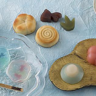 和菓子のシリコン型を使って作った和菓子