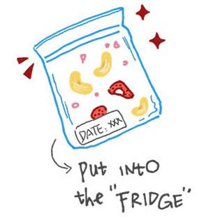 冷蔵庫で保存