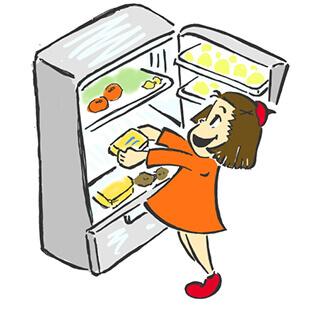 冷蔵庫へ保管