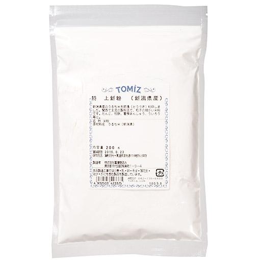 TOMIZ(富澤商店)オンラインショップで買える「新潟県産特上新粉/200g」の画像です。価格は280円になります。