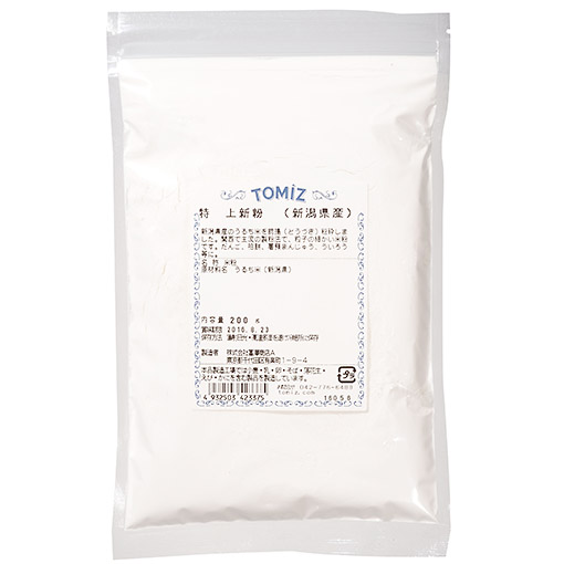 TOMIZ(富澤商店)オンラインショップで買える「新潟県産特上新粉/200g」の画像です。価格は291円になります。