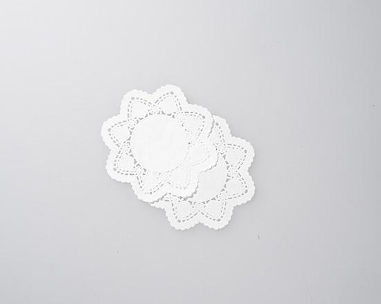 白レースペーパー 丸5号 / 10枚