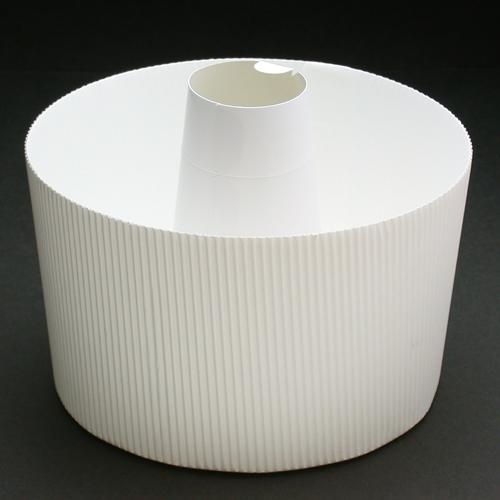 *● 紙製シフォン型白17cmふた付 / 5組