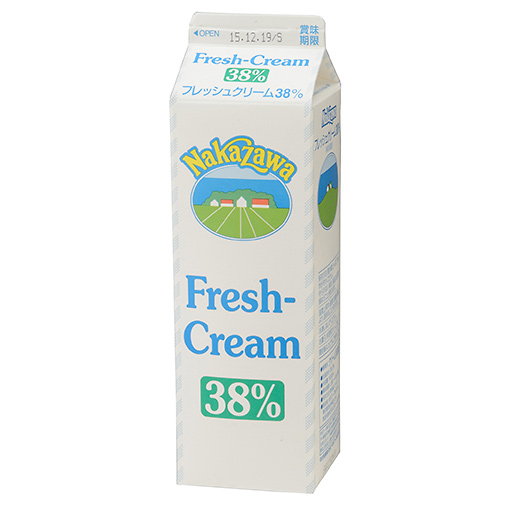 中沢 フレッシュクリーム38% / 1000ml