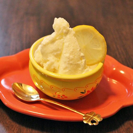 ほんのり梅風味レモン×ヨーグルトジェラート