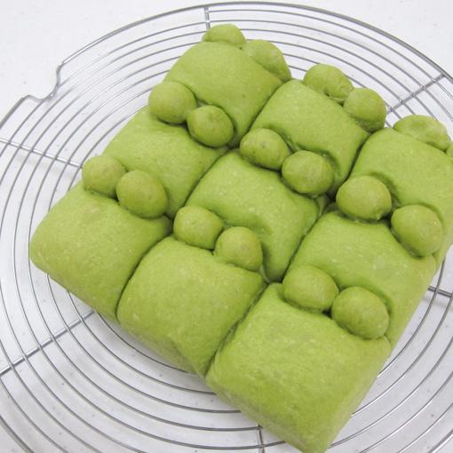 ホームベーカリーでつくる かえるの抹茶ちぎりパン   TOMIZ 富澤 ...