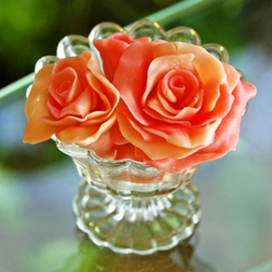 簡単デコレーション プラチョコのバラ