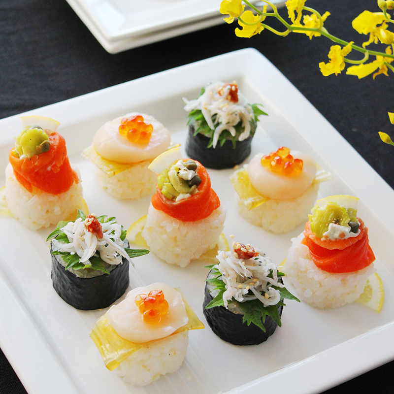 カナッペ寿司3種