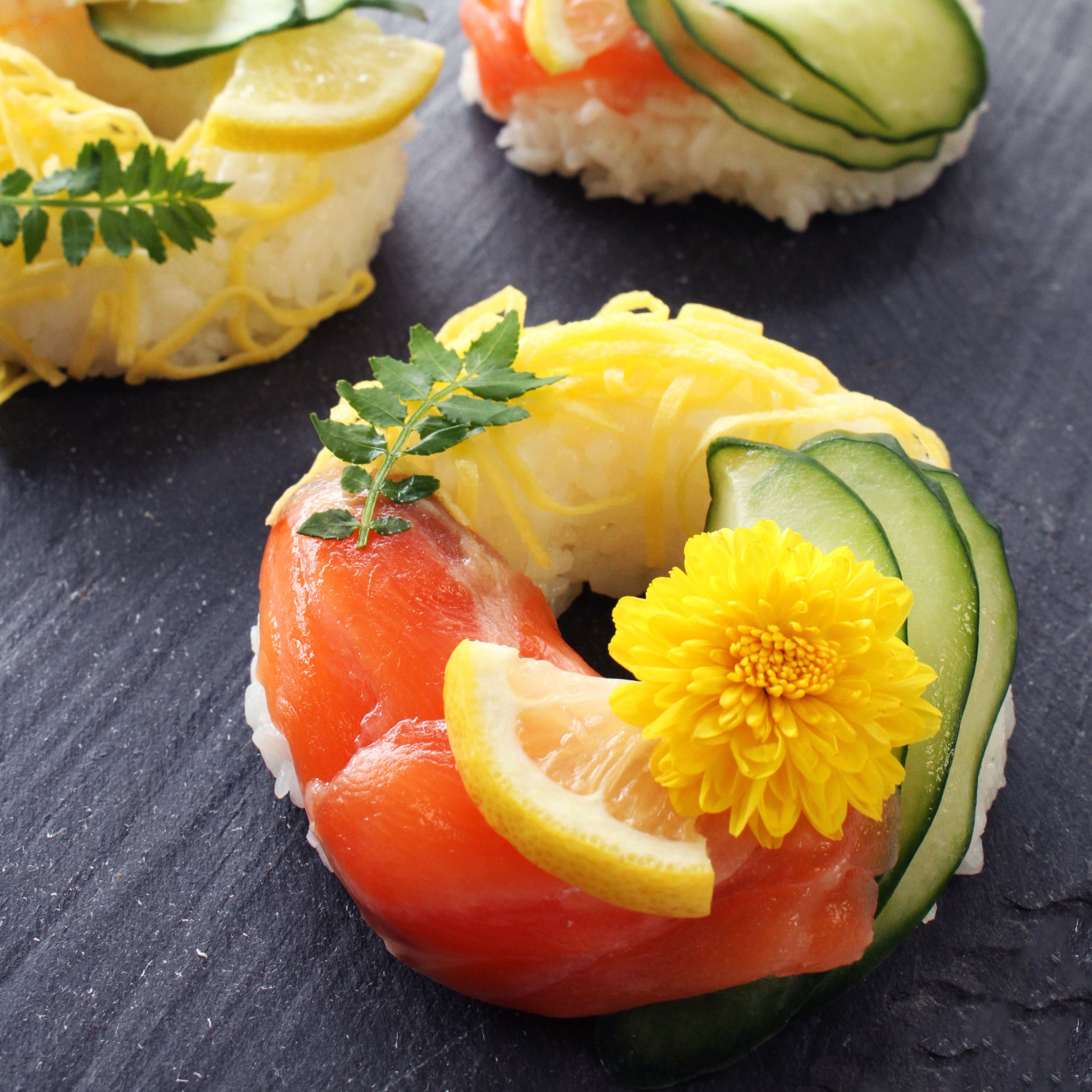 エンゼル型でつくる ドーナツ寿司