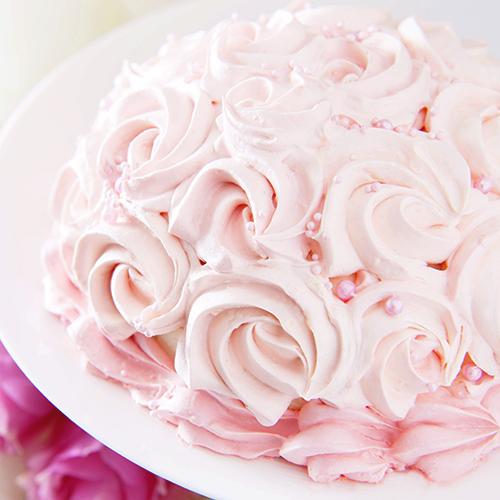 ラズベリームースのローズケーキ