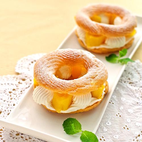 レンジで簡単 爽やかマンゴーのパリブレスト