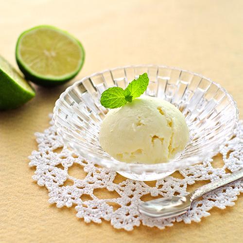 爽やかライムとハチミツのアイスクリーム