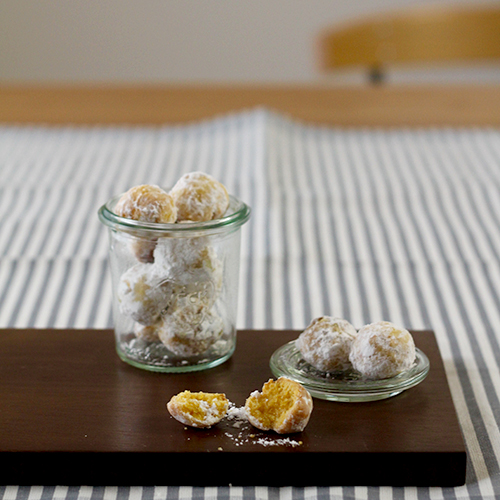 ココナッツ風味のかぼちゃ米粉クッキー