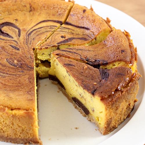 チョコマーブルパンプキンチーズケーキ