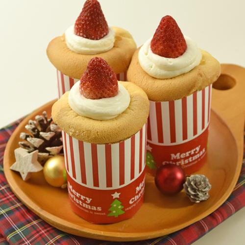 トールカップで作るふわふわキャンドルケーキ