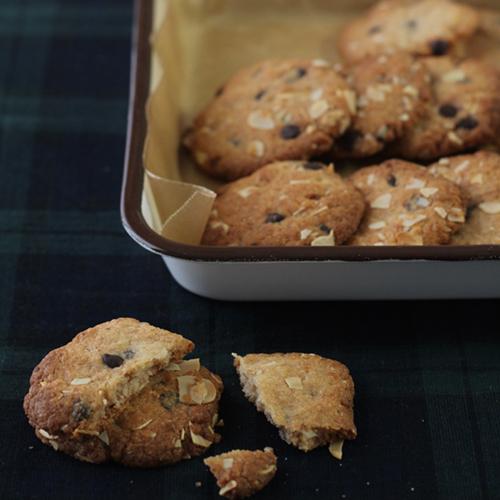 米粉のバナナチョコチップクッキー