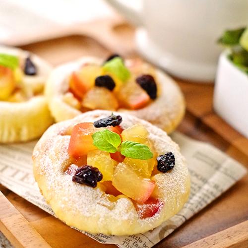 ホットケーキミックスで簡単ふんわりアップルヨーグルトケーキパン