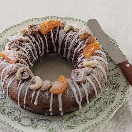 米粉のラムレーズンチョコレートケーキ