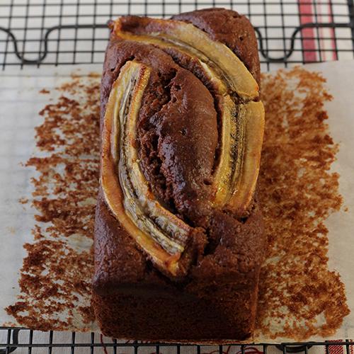 米粉のチョコバナナパウンドケーキ