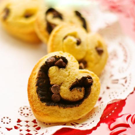 ホットケーキミックスで簡単♪ハートのチョコケーキパン