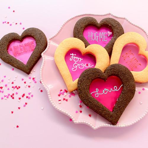 バレンタインハートステンドグラスクッキー