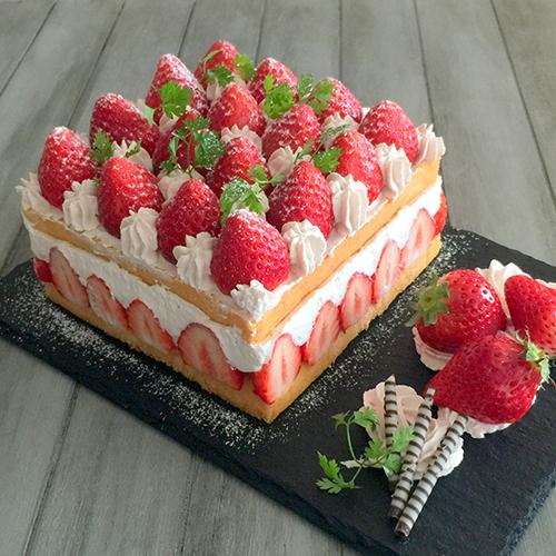 スクエア苺ショートケーキ