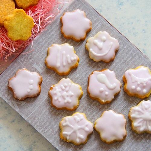 サクラのアイシングクッキー