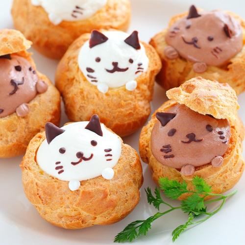 猫のシュークリーム