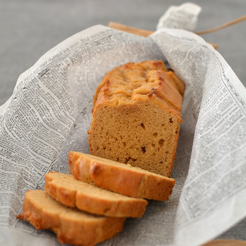 ピーナツきなこクリームのパウンドケーキ
