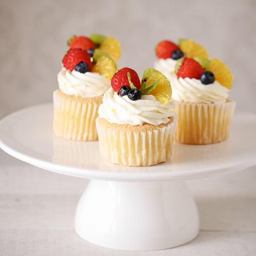 シフォンマフィンのクリームチーズカップケーキ