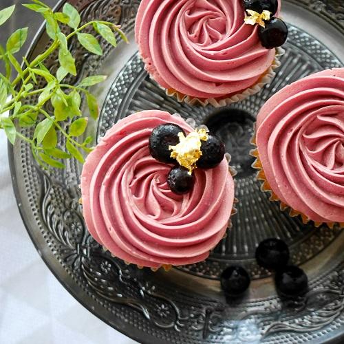 ブルーベリーの練乳カップケーキ