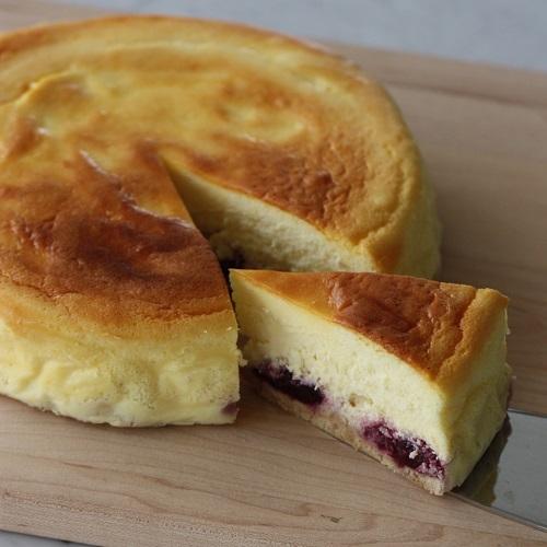 ダークチェリーのチーズケーキ