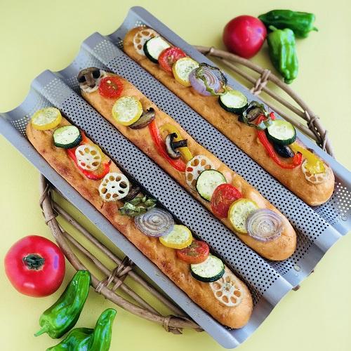 夏野菜のスティックフォカッチャ