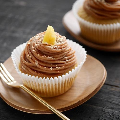 黒蜜きなこマフィンのモンブランカップケーキ
