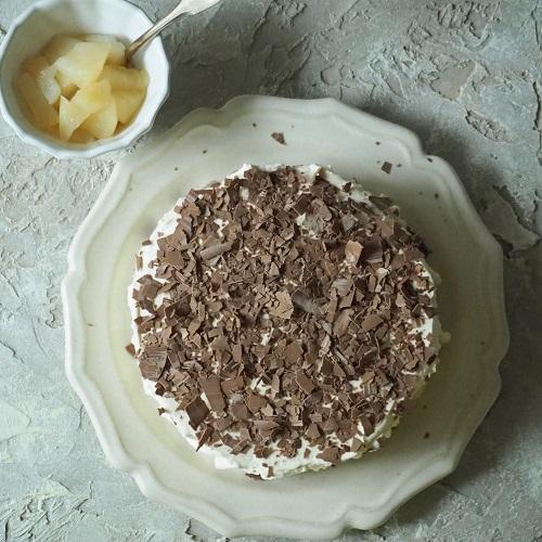 煮りんごのチャイクリームケーキ