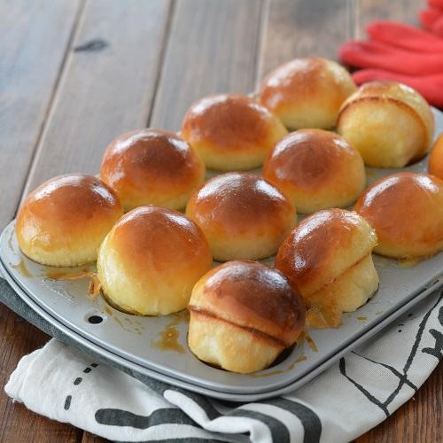 マシュマロバターのマッシュルームパン