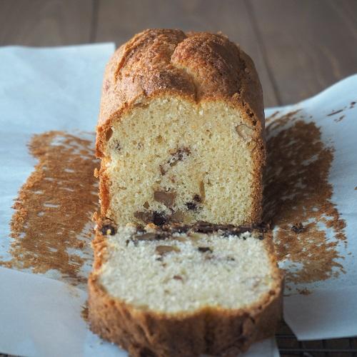 グルテンフリー!米粉のチョコチップパウンドケーキ