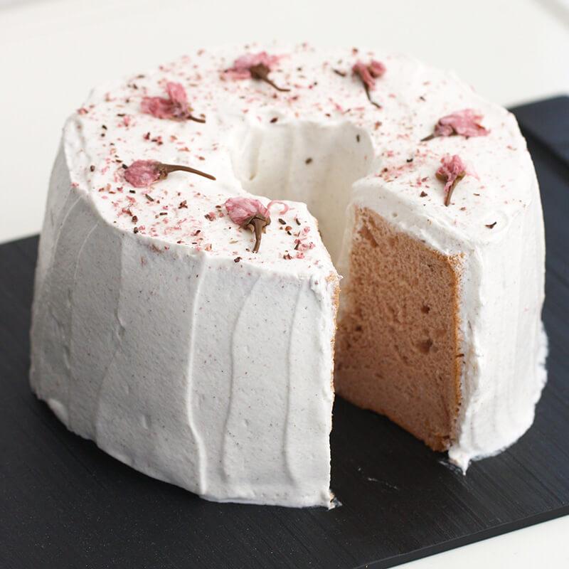 桜シフォンケーキ
