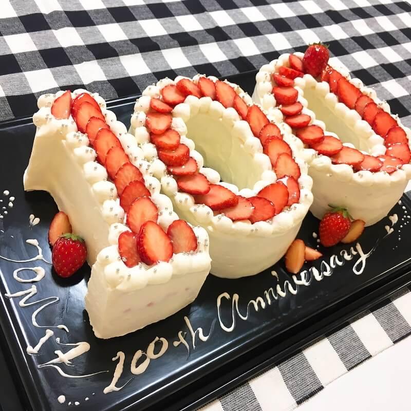 【100周年特別レシピ】SNS・インスタ映え☆ 数字のショートケーキ